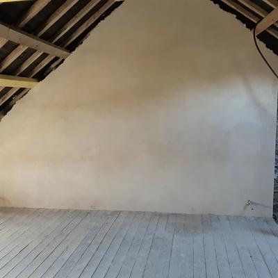 Enduit a la chaux et isolation en carreaux chaux - Saint-Malo (35)