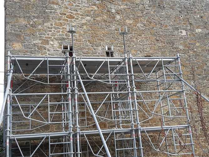 Reprise de maçonnerie suite effondrement d''un pignon pierre - Saint-Malo photo105