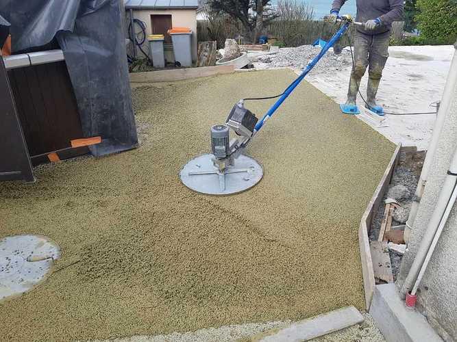 Création terrasse en béton drainant à Rotheneuf 0