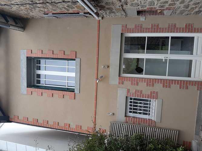 Rénovation et extension, enduit à la chaux avec briques - Saint-Lunaire 20190528085933